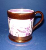 Sunderland Pottery Copper Lustre Child's Mug c1830